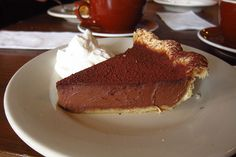 Derby Pie from Four & Twenty Blackbirds. Chocolate pie with mint and bourbon mixed in.