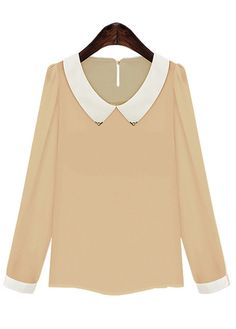 Puff Sleeve Peter Pan Collar Shirt | Sprence