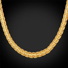 Gold Chain For Men Jewelry 18K Gold/Rose Gold /Platinum Plated 2 Size Length Men Necklace
