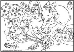 Easter colouring page