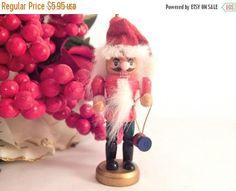 Nutcracker Santa Claus  Christmas Tree Ornament 3 Hand