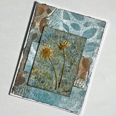 """Blossoms of Love"" - a Mixed Media, Nature Inspired Notecard - Sold."