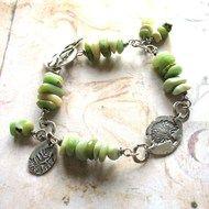 Woodland Belle - Oxidised Sterling Silver and Gemstone Handmade Artisan Bracelet