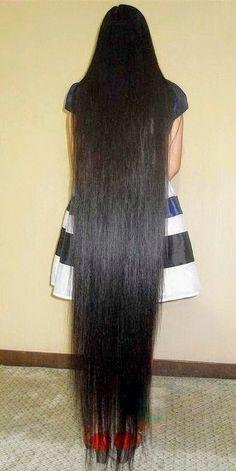 Shiney Hair, Super Long Hair, Beautiful Long Hair, Asian Woman, Hair Beauty, Floor, Hairstyles, Long Hair Styles, Celebrities