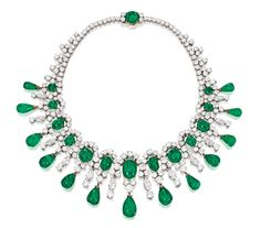 Brooke Astor's Bulgari emerald and diamond necklace from Sotheby's 2012 auction