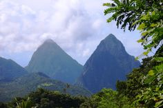 Petit and Grand Pitons in St. Lucia  2006