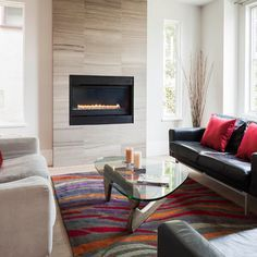 Image result for elevated fireplace