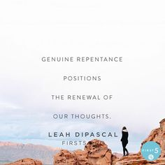 """#First5 @First5App @leahdipascal """"We are still going to sin and make mistakes. No doubt about it. We might even be tempted to put someone or something above God without even realizing it. When that happens the Holy Spirit will prompt us as believers. Lets respond right away with genuine repentance to the One who deserves all our worship honor and praise."""""""