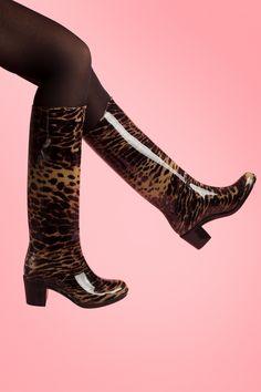 Missy - Grrr Leopard Rain boots