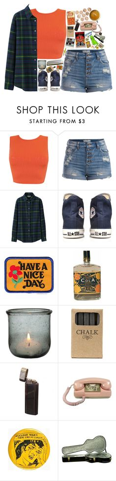 """""""We could blame it on our hands (tag)"""" by taryn-ash ❤ liked on Polyvore featuring Pieces, Uniqlo, Converse, Have a Nice Day, Jayson Home and Clips"""