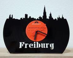 """Schallplatte """"Freiburg"""", lasercut, zum Hinstellen - aktueller Aktionspreis: 29,- EUR auf myLASERart-shop.de"""