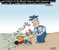 Les caricatures de Garnotte: Stephen Harper et les réfugiés syriens...