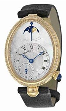 Breguet Reine de Naples Mother of Pearl Dial Yellow Gold Diamond Black Satin Ladies Watch Elegant Watches, Beautiful Watches, Naples, Diamond Watches For Men, 5 Elements, Seiko Watches, Automatic Watch, Watch Brands, Cool Watches