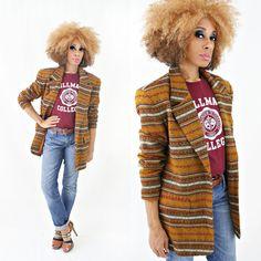 vintage 80s SOUTHWESTERN ethnic TRIBAL wool blend BOYFRIEND blazer size S M by PasseNouveauVintage, $38.00