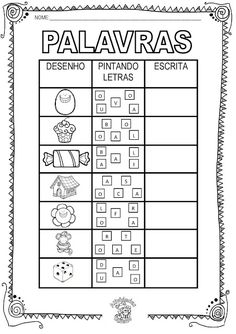 Atividades Adriana : Alfabetização