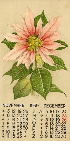 Voerman, Jan, Jr., illustrator. November/December 1939. Dutch calendar page.