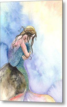 Mermaid Poster, Mermaid Wall Art, Mermaid Fairy, Mermaid Drawings, Mermaid Paintings, Mermaid Prints, Mermaid Room, Real Mermaids, Mermaids And Mermen