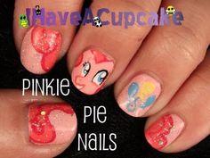Pinkie Pie Nail Art