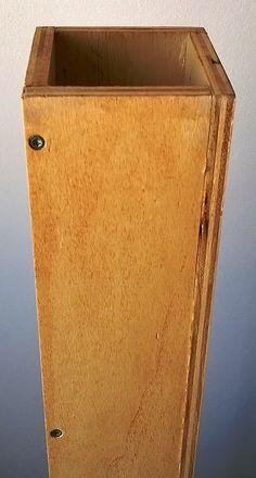 Schermo acustico in legno.