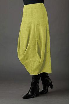 acid yellow skirt against black - OSKA Shop München