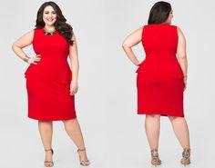 5afe160df56 Sponsored Plus Size Fashion Trend of The Day  Peplum Sheath Dress From  Ashley Stewart