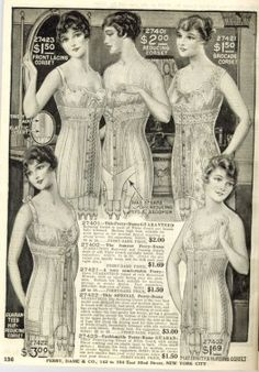 1916 Catalog Image Of Corsets