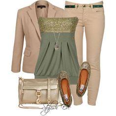 Strapless top & blazer.