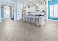 CoreLuxe XD 6mm w/ pad Rocky Hill Hickory Waterproof Rigid Vinyl Plank Flooring 5 in. Wide 48 in. Long | LL Flooring Engineered Vinyl Plank, Engineered Hardwood Flooring, Vinyl Plank Flooring, Kitchen Flooring, Hardwood Floors, Grey Oak, Gray, White Oak, Soft Tiles