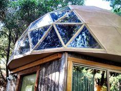 Mushroom Dome Cabin   Tiny House Swoon  Cool Bay window type idea