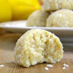 Coconut-Lemon Meltaway Cookies Recipe Desserts with almond flour, unsweetened shredded dried coconut, coconut flour, salt, agave nectar, lemon juice, vanilla, lemon zest, coconut oil