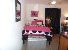 Girly College Apartment, New Girly College Apartment, Bedroom, Girls Rooms  Design