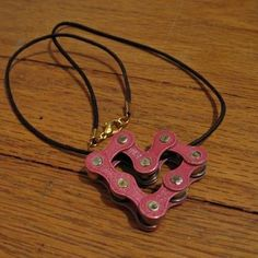 BMX Heart Bike Chain Pendant