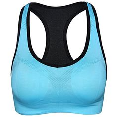 CIMARY Womens Padded Sports Bras Push Up Seamless Fitness Workout Yoga Bra XLarge Blue *** Clicking on the image will lead you to find similar product
