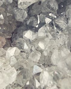 Quartz Crystal Photograph - Minerals Gems White Gray Druzy Geology  Nature Wall Art Print  'Crystal Cluster'