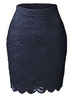 Perfect for the office and beyond, this high waisted floral lace scallop hem skirt is a must have! A scalloped hemline perfects the ladylike silhouette of a slim pencil skirt crafted from a lightweigh Floral Pencil Skirt, High Waisted Pencil Skirt, Floral Print Skirt, Floral Lace, Pencil Skirts, Floral Prints, Scalloped Skirt, Skirt Outfits, Swagg