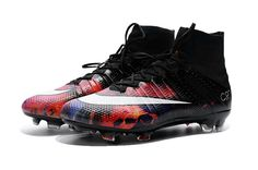 52c387d5e4287 Nike Mens Mercurial Superfly CR7 FG Lava Football Boots Soccer Cleats Black  Red  78.00 Superfly Soccer