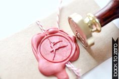 Ballerina ballet Dancer Gold Plated Wax Seal Stamp x by BacktoZero, $20.00