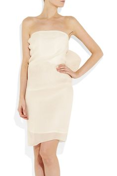 Lanvin | Bow-embellished silk-gazar dress | NET-A-PORTER.COM