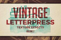 Vintage Letterpress Effects Vol.2 by Zeppelin Graphics on @creativemarket