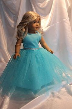 Princess-Dress-made-for-18inch-American-Girl-Doll-Clothes-Frozen-Inspired-Elsa