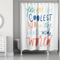 Saul Kid Single Shower Curtain - You are in the right place about kids book Here we offer you the most beautiful pictures about the - Shared Bathroom, Kid Bathroom Decor, Bathroom Colors, Small Bathroom, Boys Bathroom Themes, Bathroom For Kids, Little Boy Bathroom, Childrens Bathroom, Bathroom Rules