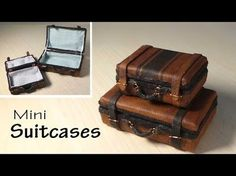 Video : Tolle Koffer-Ableitung Simple Miniature Suitcase Tutorial - Dolls/Dollhouse - YouTube