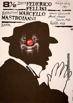 Polish film poster- 8 & 1/2
