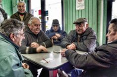 Old people playing cards in Le Marche