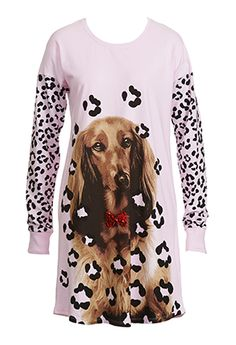 Image for Penny Leopard Sleep Tee from Peter Alexander