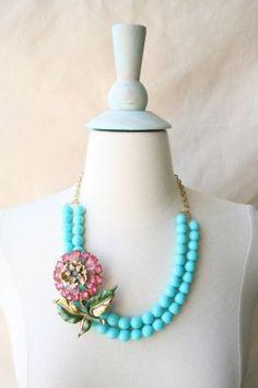Azalea Flower necklace.