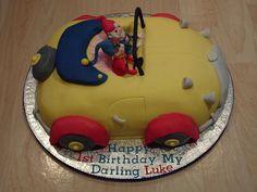 Noddy & Big Ears1st Birthday Cake