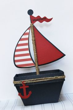 Your guests will be pleasantly surprised by one of these creative nautical favors. This adorable favors are perfect for birthday, baby showers, Nautical Favors, Nautical Invitations, Nautical Party, Mickey Mouse Favors, Anchor Baby Showers, Baby Shawer, Pirate Birthday, Wooden Letters, Favor Boxes