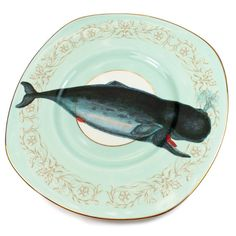 Whale of a Time cake plate by yvonneellen on Etsy