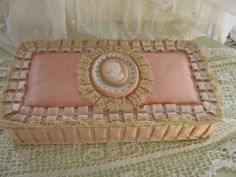 Vintage Valentine Candy Box Pink Valentine Candy by Fannypippin, $42.00